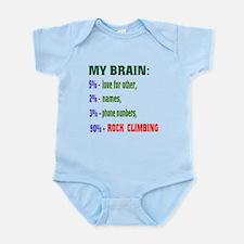 My Brain, 90% Rock Climbing Infant Bodysuit