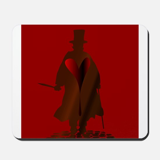 Jack the Ripper Heart Mousepad