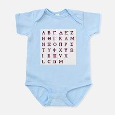 Isolated Greek Alphabet Body Suit