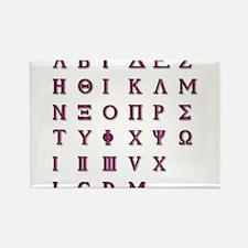 Isolated Greek Alphabet Magnets