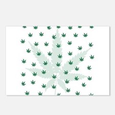 Cannabis Leaf Background Postcards (Package of 8)