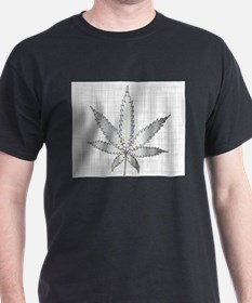 Metal Cannabis Leaf T-Shirt