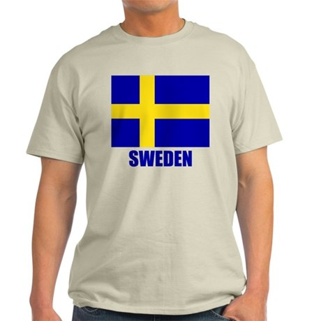 "Swedish Flag ""Sweden"" Light T-Shirt"