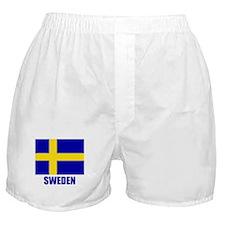 "Swedish Flag ""Sweden"" Boxer Shorts"