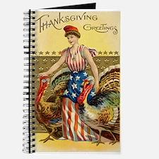 Vintage Thanksgiving American Greeting Journal