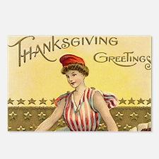 Vintage Thanksgiving Amer Postcards (Package of 8)