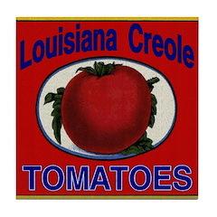 Louisiana Creole Tomatoes Tile Coaster