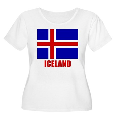 "Icelandic Flag ""Iceland"" Women's Plus Size Scoop N"