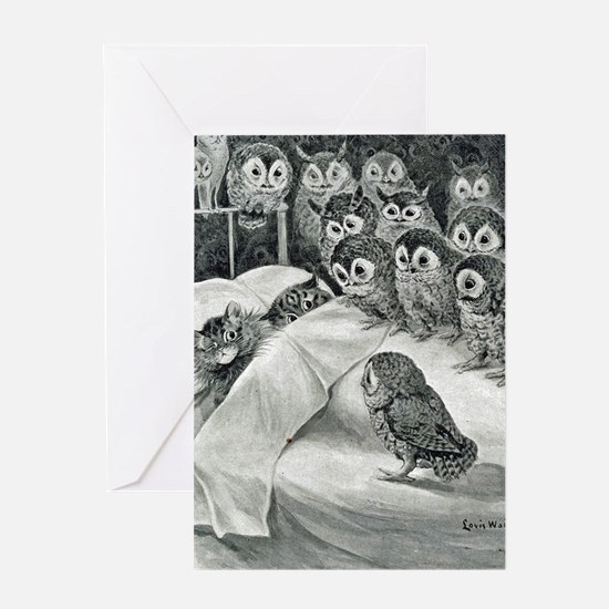 Cool Whimsical owl Greeting Card