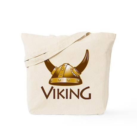"Viking Helmet ""Viking"" Tote Bag"