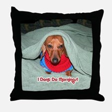 Red Dachshunds Throw Pillow