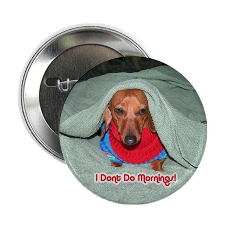 "Red Dachshunds 2.25"" Button"