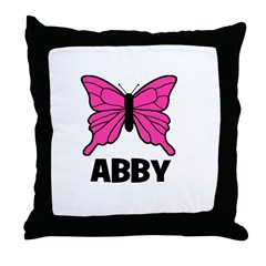 Butterfly - Abby Throw Pillow