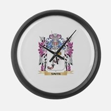 Smith- Coat of Arms - Family Cres Large Wall Clock