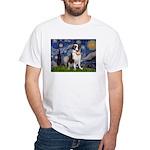 Starry / Saint Bernard White T-Shirt