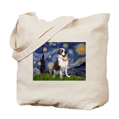Starry / Saint Bernard Tote Bag