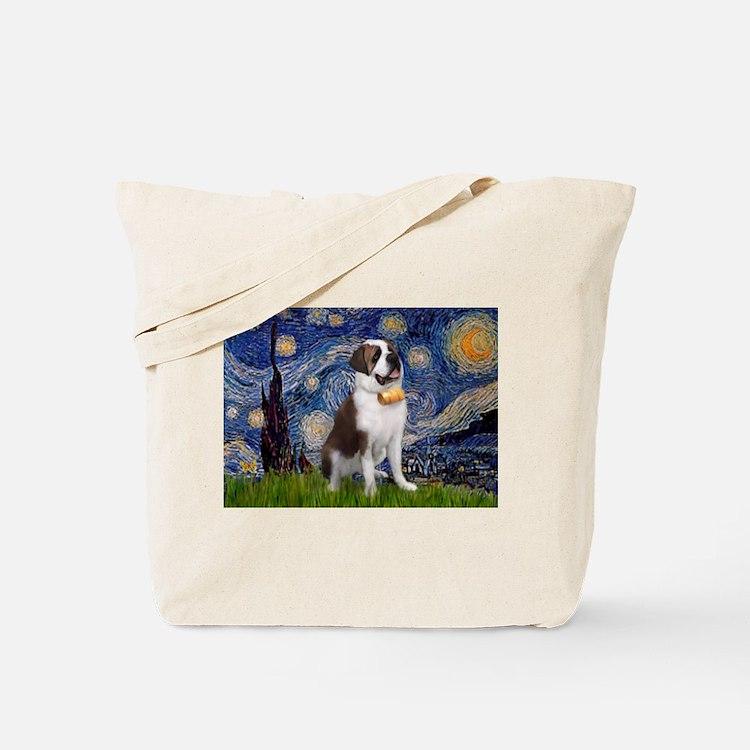 Starry / Saint Bernard Tote Bag