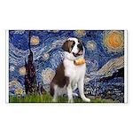 Starry / Saint Bernard Sticker (Rectangle)