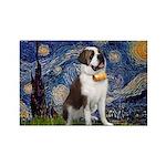 Starry / Saint Bernard Rectangle Magnet (10 pack)