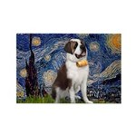 Starry / Saint Bernard Rectangle Magnet