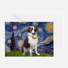 Starry / Saint Bernard Greeting Card