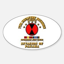 Just Cause - 7th Infantry Division Sticker (Oval)