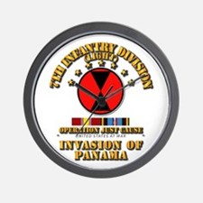 Just Cause - 7th Infantry Division w Sv Wall Clock