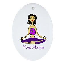 Yogi Mama Ornament (Oval)