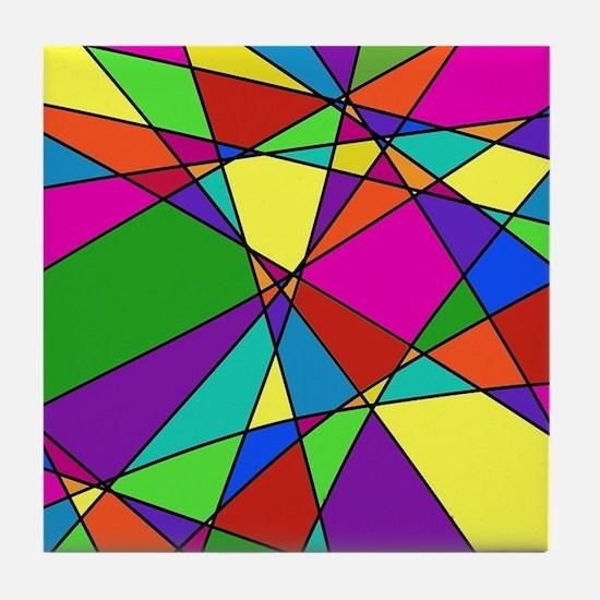 Geometric Chaos Tile Coaster