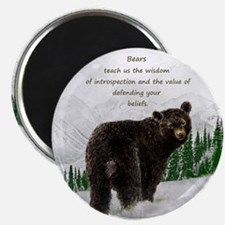 Black Bear Animal totem Inspirational Spir Magnets