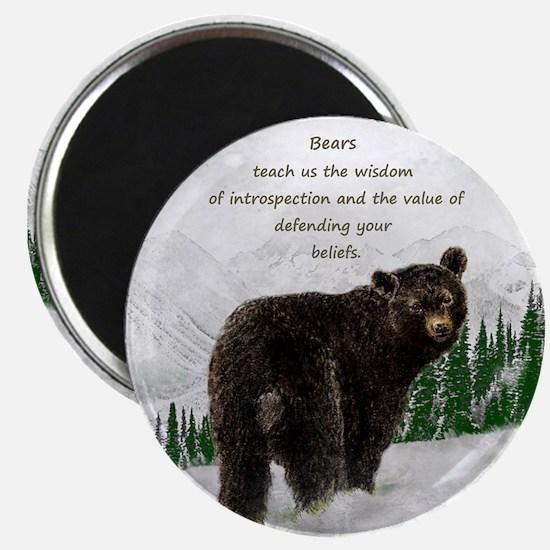 Black Bear Animal totem Inspirational Spir Magnets