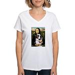 Mona / Saint Bernard Women's V-Neck T-Shirt