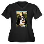 Mona / Saint Bernard Women's Plus Size V-Neck Dark