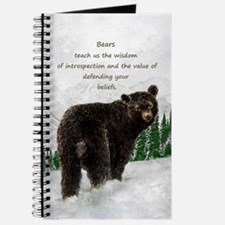 Black Bear Animal totem Inspirational Spir Journal