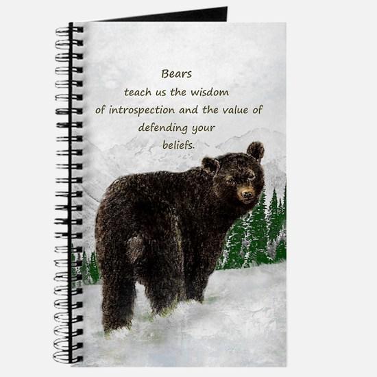 Black Bear Animal totem Inspirational Spir Journal