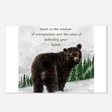 Black Bear Animal totem I Postcards (Package of 8)