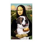 Mona / Saint Bernard Sticker (Rectangle)