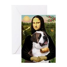 Mona / Saint Bernard Greeting Card