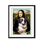 Mona / Saint Bernard Framed Panel Print
