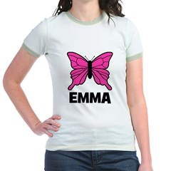 Butterfly - Emma Jr. Ringer T-Shirt