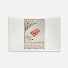 Winter Olympics - Bobsled Rectangle Magnet