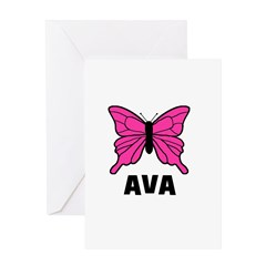 Butterfly - Ava Greeting Card