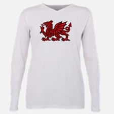 Funny Welsh dragon Plus Size Long Sleeve Tee