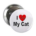 I Love My Cat Button