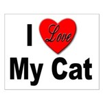 I Love My Cat Small Poster