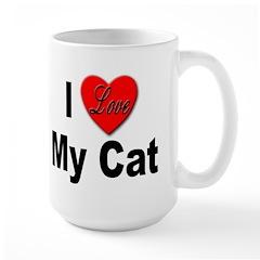 I Love My Cat Large Mug