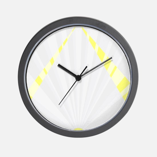 Art Deco Sunrise Background Wall Clock