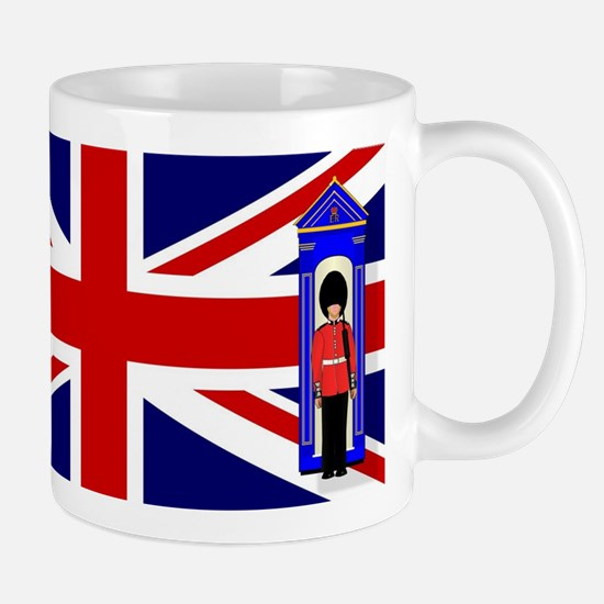 Union Jack With Guards Mugs