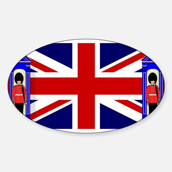 Union Jack With Guards Decal