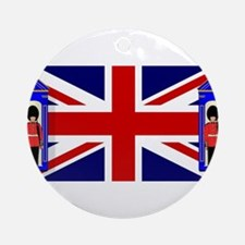 Union Jack With Guards Round Ornament